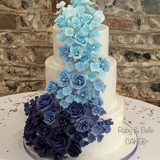 Blue ombre cascade