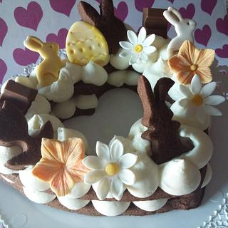 Easter cream tart - Cake by Annalisa Pensabene