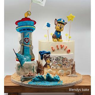 Paw patrol on holidays - Cake by blendys cakes