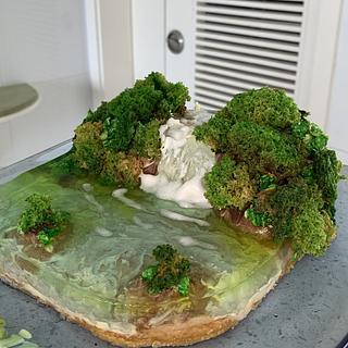 Waterfall cake - Cake by alek0