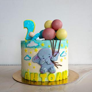 Elephant with balloons - Cake by TortIva