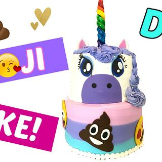 UNICORN EMOJI CAKE!