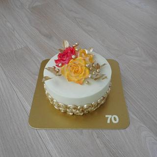 Gold inspiration  - Cake by Janka