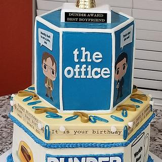 """The Office"" themed birthday cake"