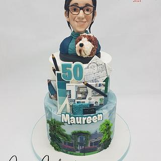 Personal Design Cake  - Cake by Claudia Kapers Capri Cakes
