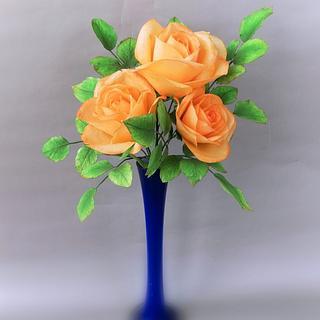 Wafer paper roses ...