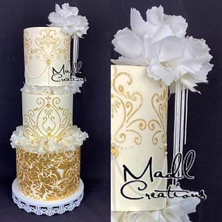 Wedding cake wafer paper