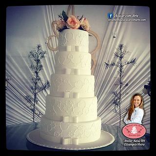 The Big Wedding Cake - Cake by Açúcar com Arte