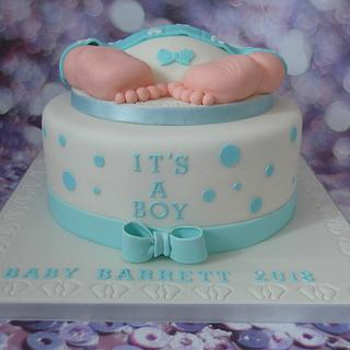 Baby shower cake. - Cake by Karen's Cakes And Bakes.