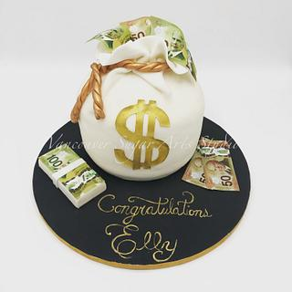 A bag full of Money! - Cake by Vancouver Sugar Arts