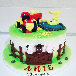 Tractor Tom  - Cake by Tortebymirjana
