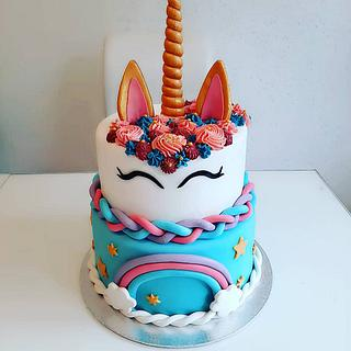 Unicorn cake  - Cake by Azra Cakes