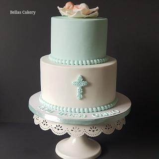 Baptism Cake! - Cake by Bella's Cakes