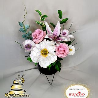 Shugar flowers  - Cake by Tsanko Yurukov