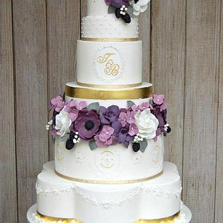 Purple Luxe Wedding Cake