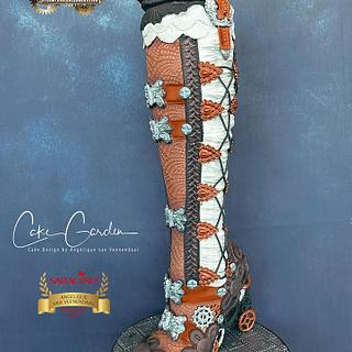 Steam cakes 2020 collaboration - Steampunk boot