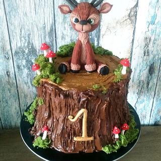 Deer for 1st birthday - Cake by Daria