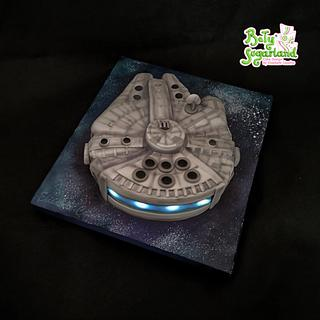 Millenium Falcon with lights