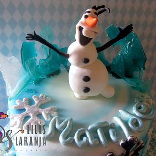 Olaf - Cake by Lilas e Laranja (by Teresa de Gruyter)