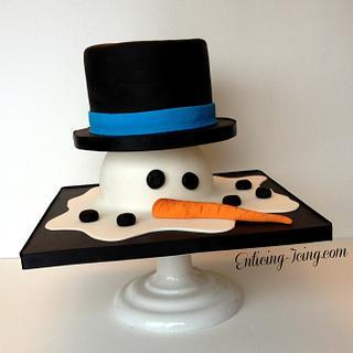 Melty Snowman cake