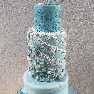 Ocean love cake