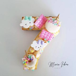 Mini number cake - Cake by Maira Liboa