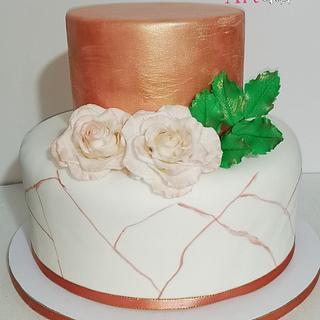 Rose  - Cake by CakeMonica