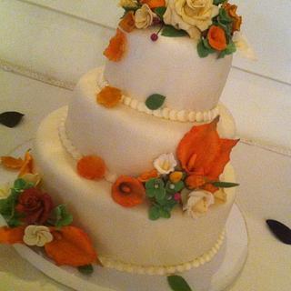 Wedding Cake- (Fall Theme)