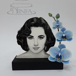 Elizabeth Taylor (Homage Painting) - Cake by Le Creazioni di Ninfa - Ninfa Tripudio