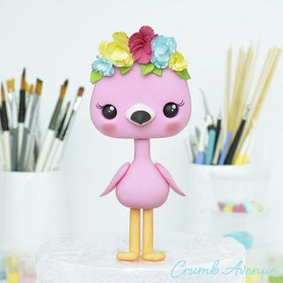 Cute Flamingo Cake Topper