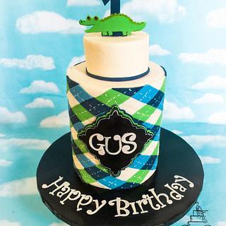Gus preppy Gator cake