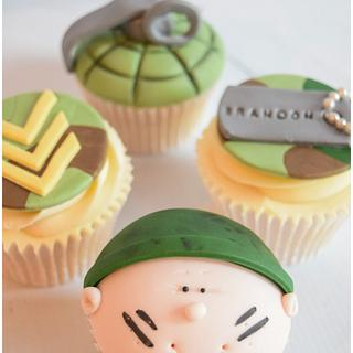 Army Themed Cupcakes - Cake by Dollybird Bakes