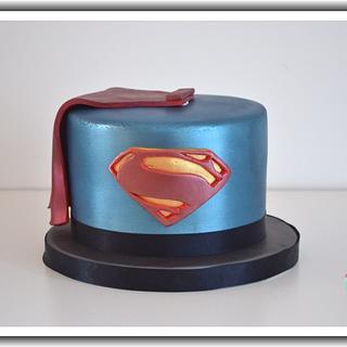 Superman Man Of Steel Cake - Cake by Enchantedcupcakes