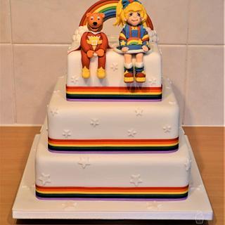 SuperTed and Rainbow Brite Wedding Cake