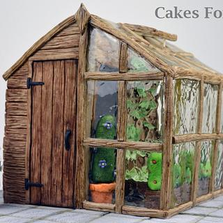 Shed Greenhouse Cake