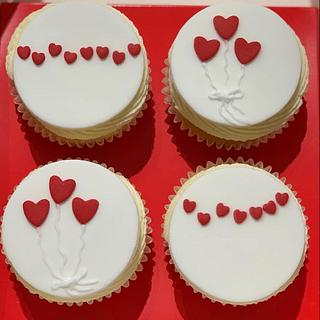 Love is in the air cupcakes