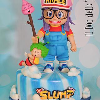 Arale & Dr Slump - Sugar Artist League 80's Cartoon Collaboration - Cake by Davide Minetti