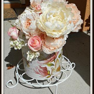 Wedding Flowers  - Cake by Bethann Dubey