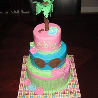 Hawaiian Birthday Cake - Cake by Jaybugs_Sweet_Shop