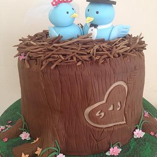 The Love Birds  - Cake by icedtouchcakes