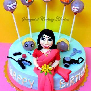 Hair Dresser Themed Cake