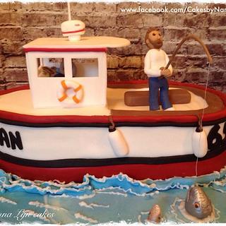 Fishing Boat - Cake by Nanna Lyn Cakes