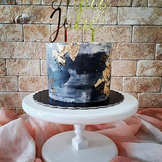 Whipped cream cake 🖤