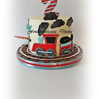 Train cake - Cake by Fondantfantasy