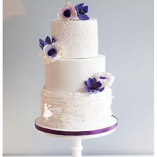 Fresh purple 'anemones' - Cake by Taartjes van An (Anneke)