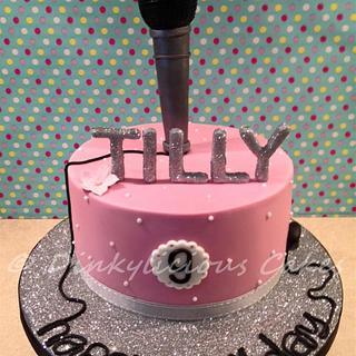 Glitter/ Bling/ Microphone cake