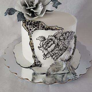 For a lover of Dreamcatcher and Tattoos - Cake by DDM