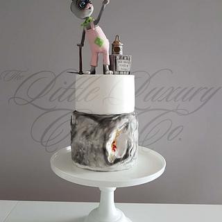Hare & Geode Cake