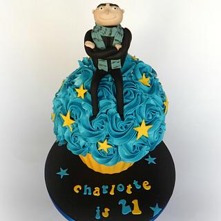 Despicable Me Giant Cupcake and Cupcakes