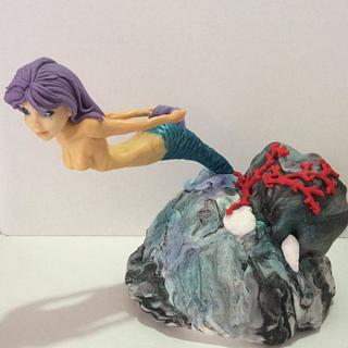 violet mermaid  - Cake by MELANIASCAKEATELIER